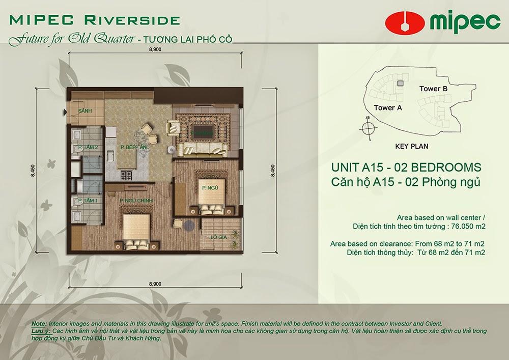 Căn A15 cư xá Mipec Riverside