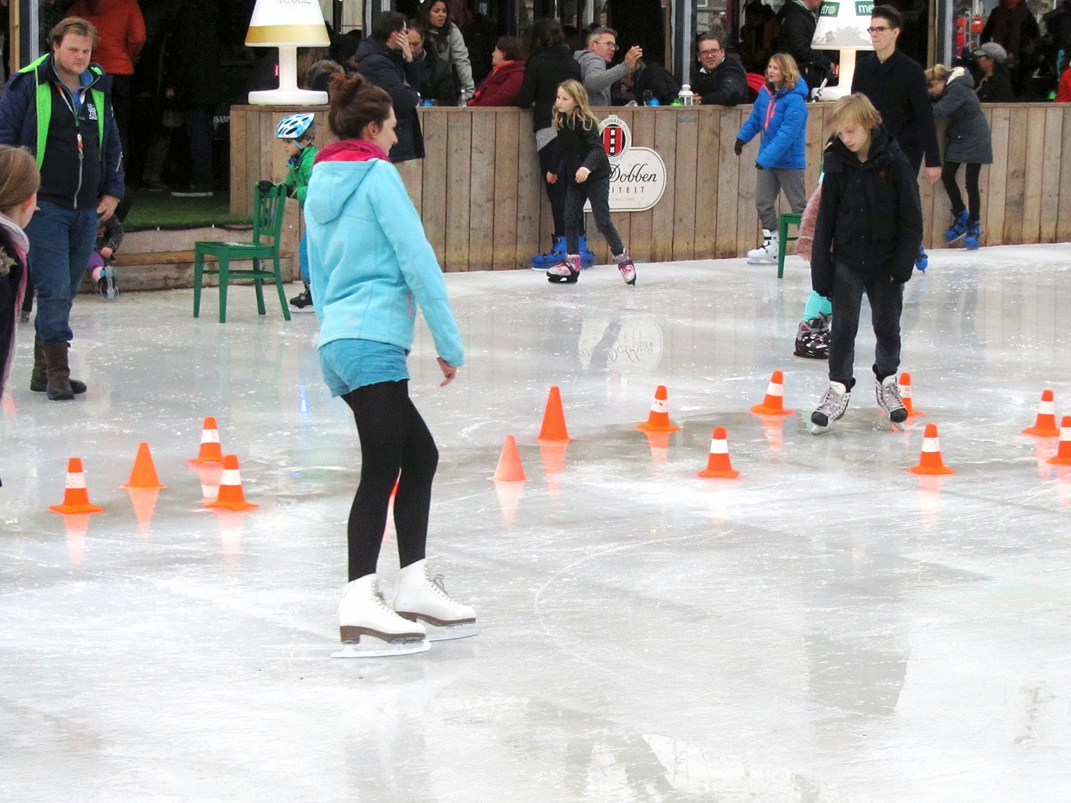 skating girl in blue