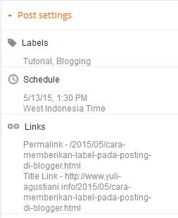 Cara memberikan label pada posting di blogger