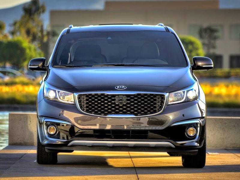 car reviews 2015 kia sedona black fornt view
