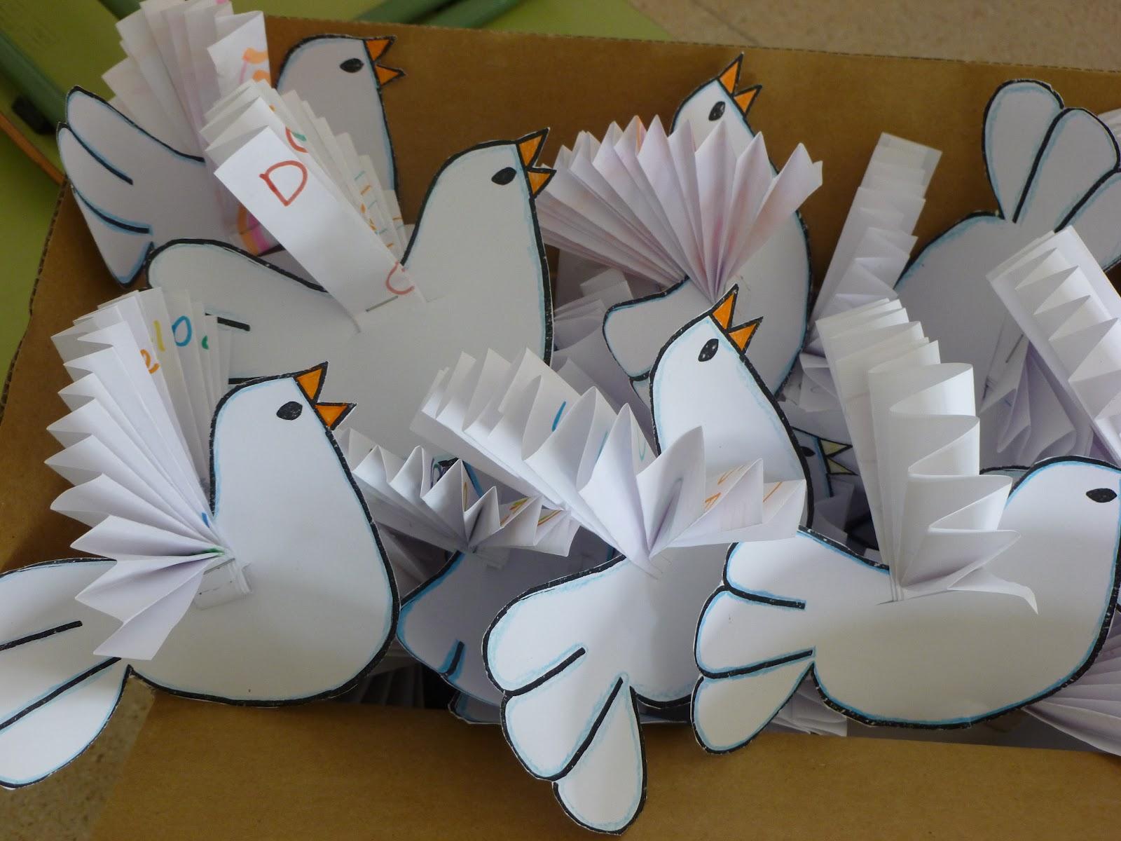 Descubriendo el mundo paloma de la paz for Peace crafts for sunday school