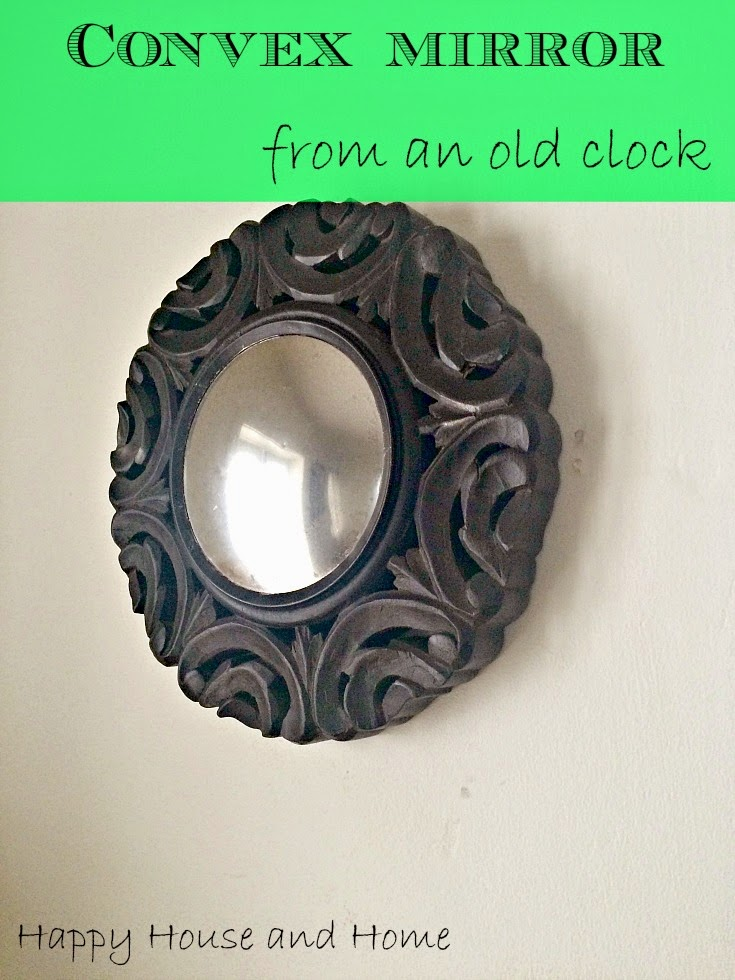 convex mirror, DIY mirror, home decor