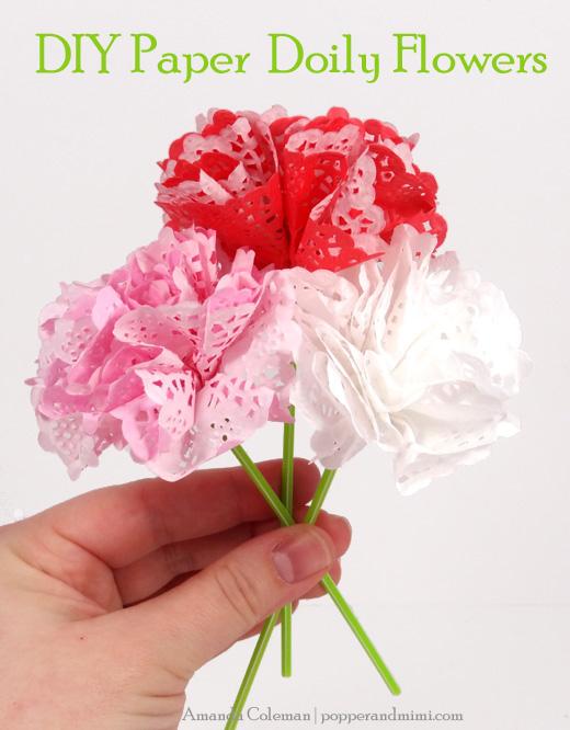 DIY Paper Doily Flowers | popperandmimi.com