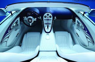 2012 Bugatti Veyron Grand Sport cabrio Or Blanc Interior Porcelain Cockpit