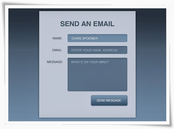 Contact Form with HTML5 & CSS3