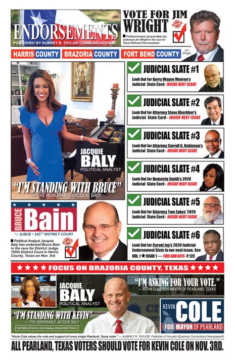 2020 Endorsements Featuring Political Analyst Jacquie Baly and Other Influential Leaders