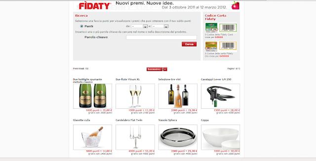 Catalogo punti Esselunga:  Fidaty, nuovi punti, nuove idee!