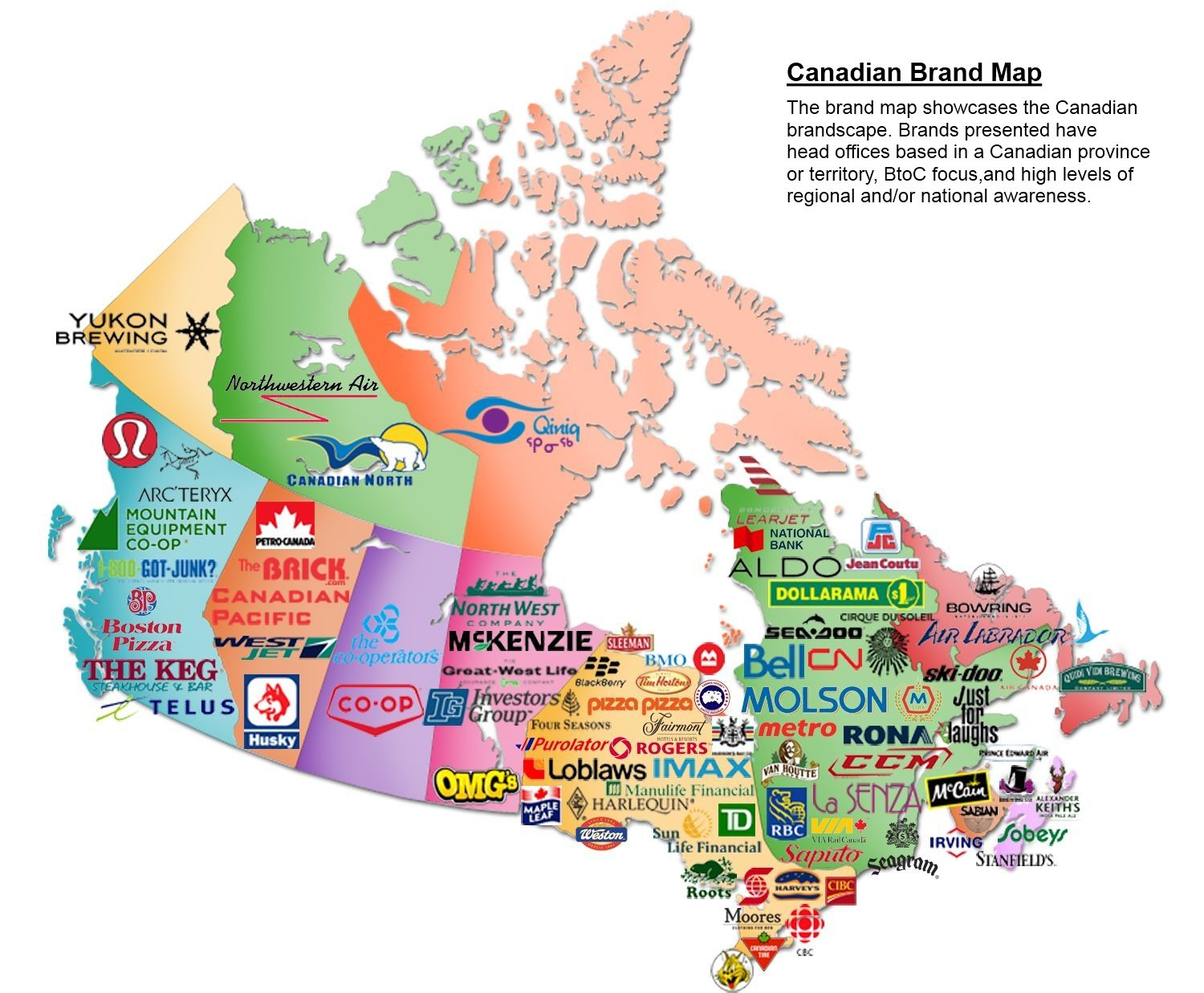Image Gallery of Canadian Stereotypes Map