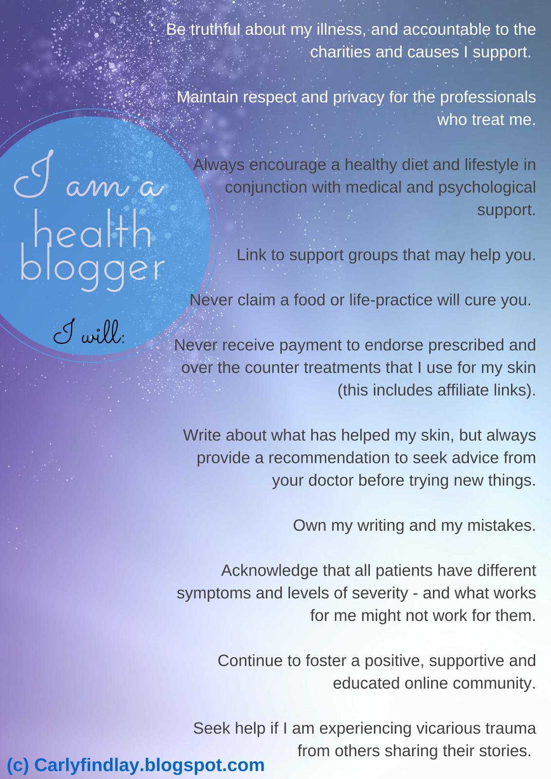 Health blogger pledge