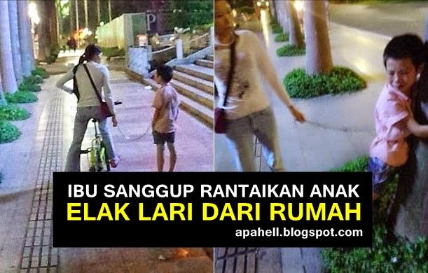 Ibu Muda Sanggup Rantaikan Anak Elak Lari Dari Rumah (2 Gambar)
