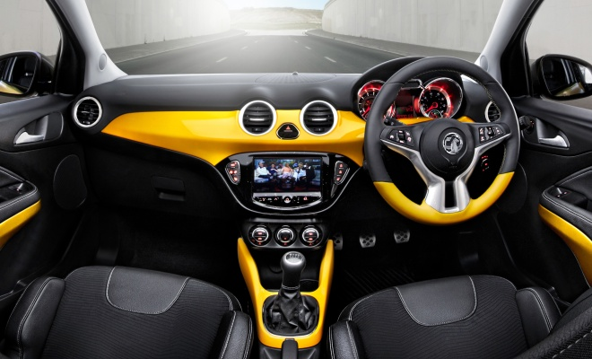 Vauxhall Adam dashboard in yellow
