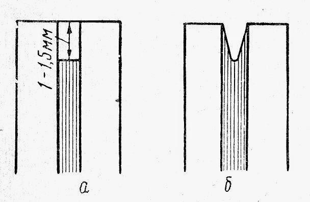 Глубина и форма паза (дорожки) между соседними пластинами