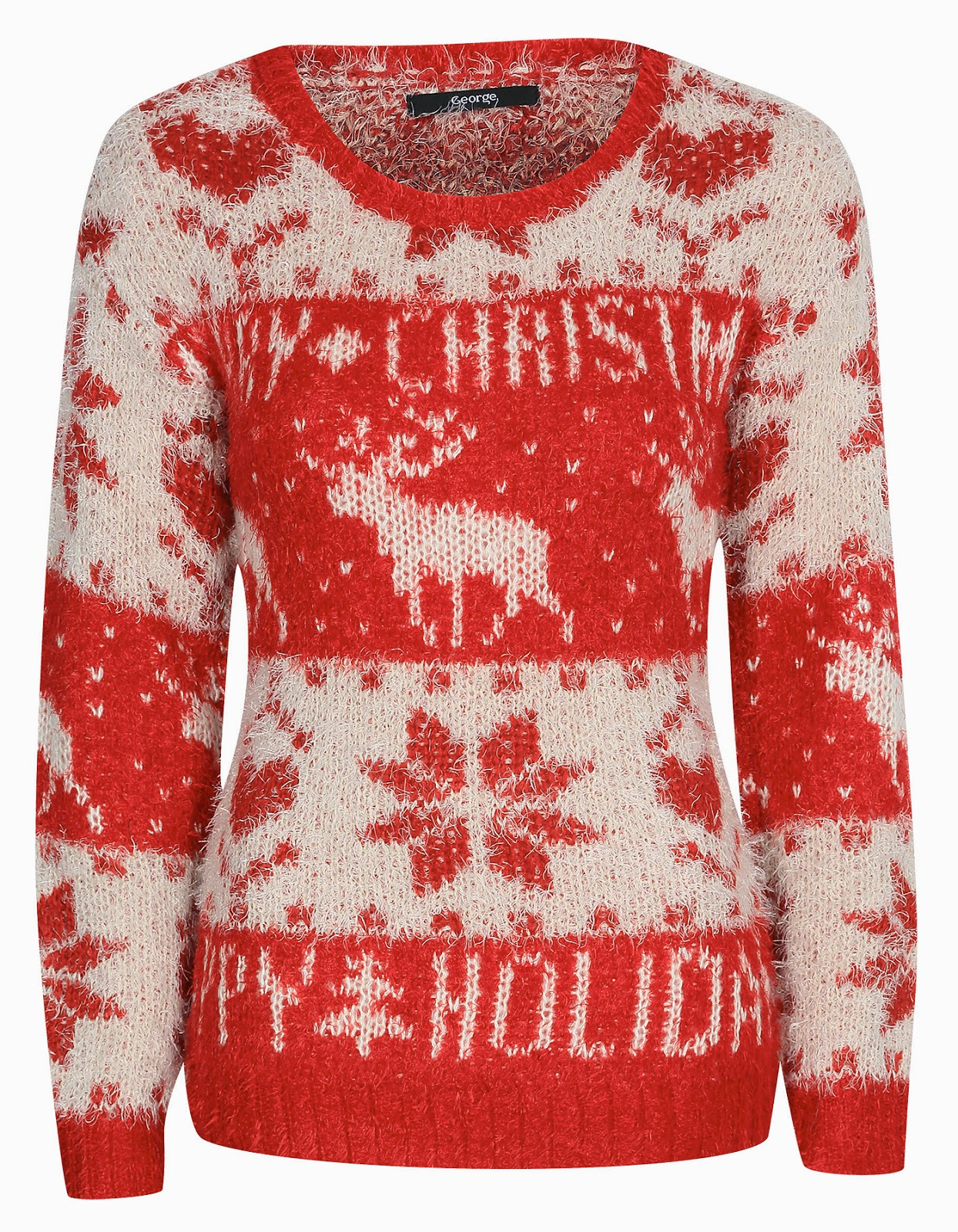 asda christmas jumper, asda reindeer jumper,