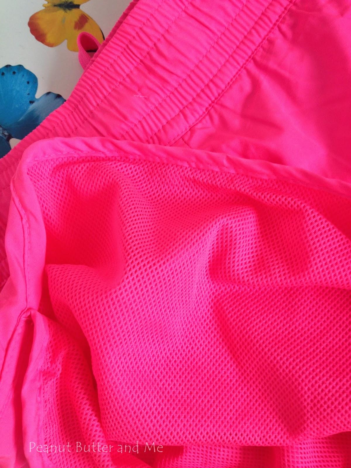 H&M pink różowe shorts spodenki wakacje plaża lato krótkie sport atletic