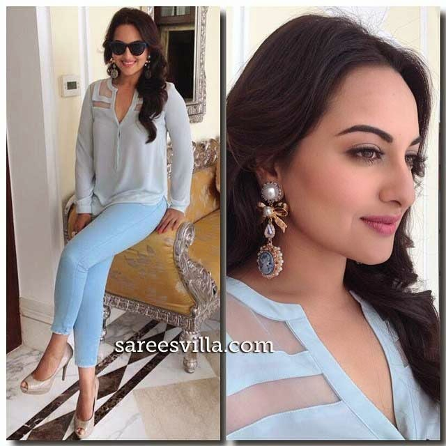 Sonakshi Sinha In Zara At 'Holiday' Promotion