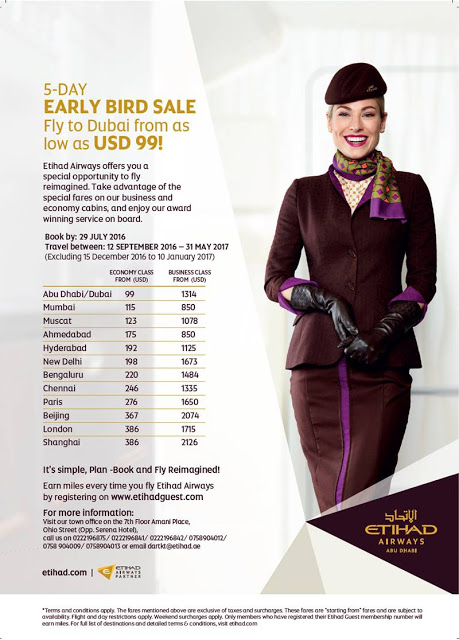 FLY TO DUBAI FROM AS LOW AS  USD 99! 5-DAY EARLY BIRD SALE