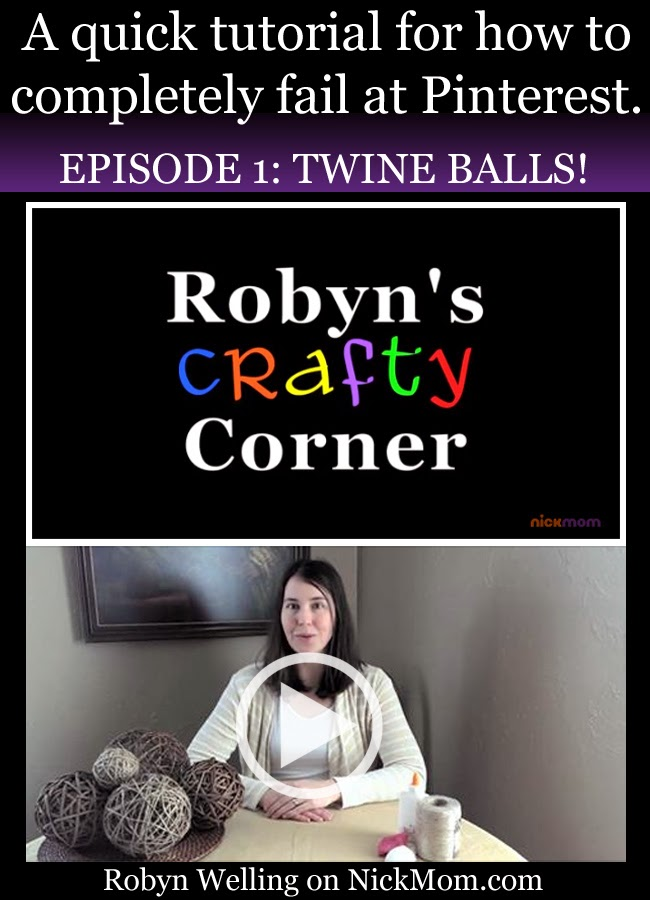 Robyn's Crafty Corner: Twine Balls by Robyn Welling @RobynHTV