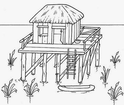 Tipos de Casas - Modelos de Casas - Casa de Palafita
