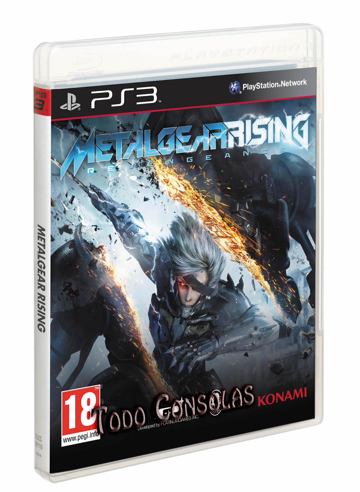 Metal Gear Rising Revengeance PS3Metal Gear Rising Revengeance Cover Ps3
