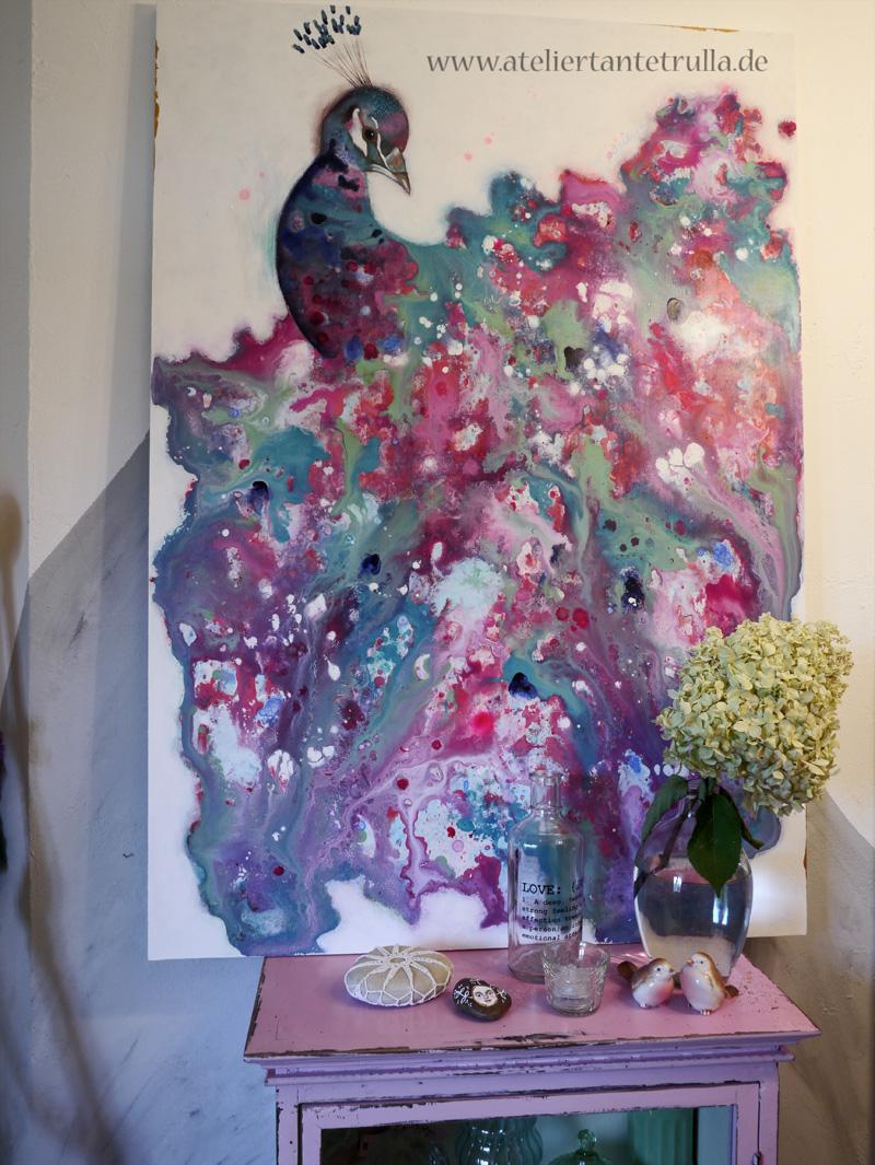 Moderne Malerei Pfau
