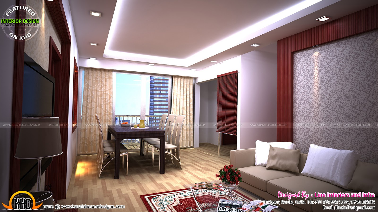 Modular kitchen bedroom dining interiors in kerala for Dining room designs kerala