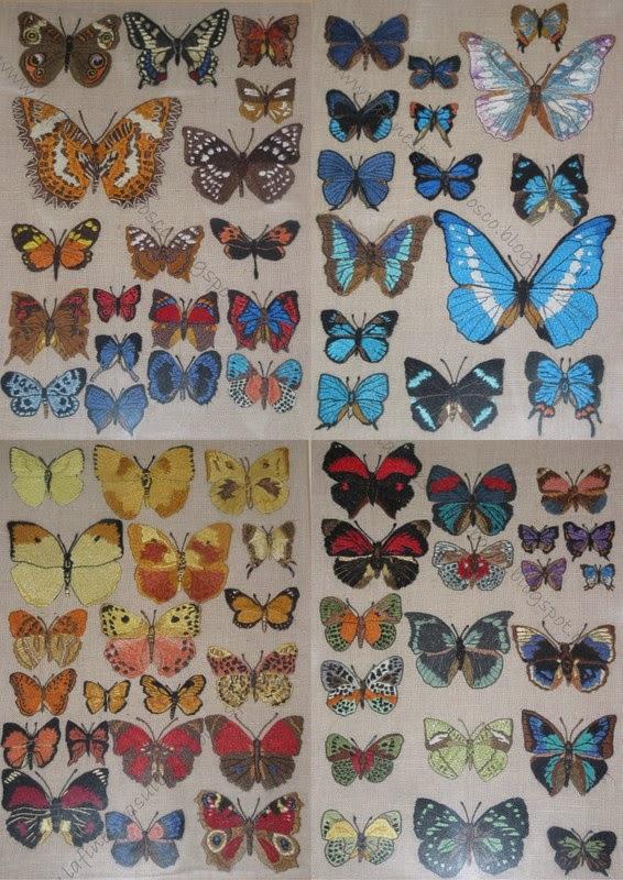 Ricamo farfalle