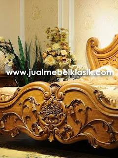Supplier classic teak bed jepara supplier luxury classic teak furniture