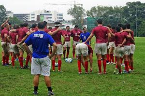 Formación de Pampas XV para jugar ante Reds A