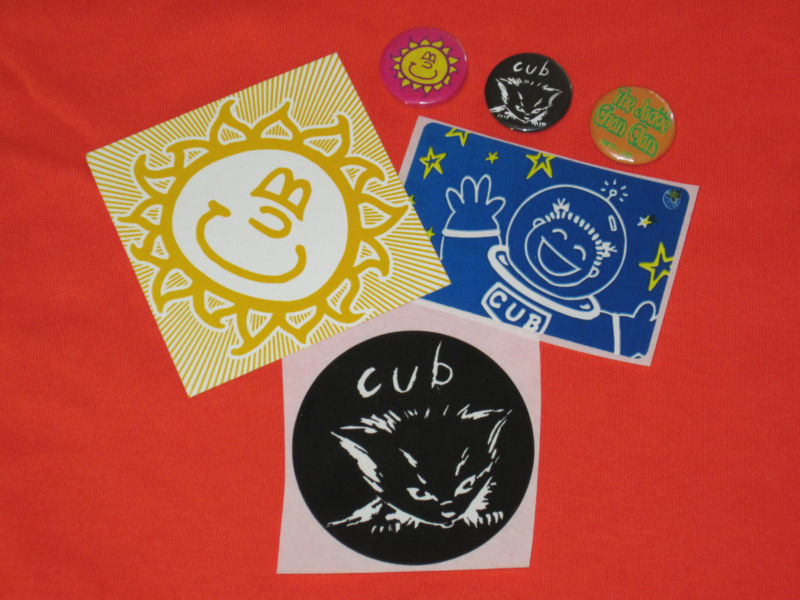 Cub vintage 1 button badge and sticker set plus extras
