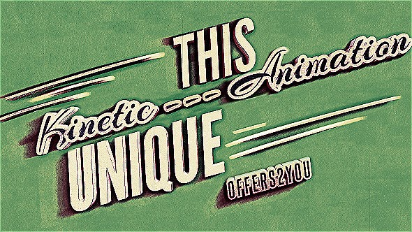 VideoHive Kinetic Typography, Vintage Retro Style