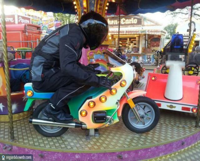 photo drole femme moto