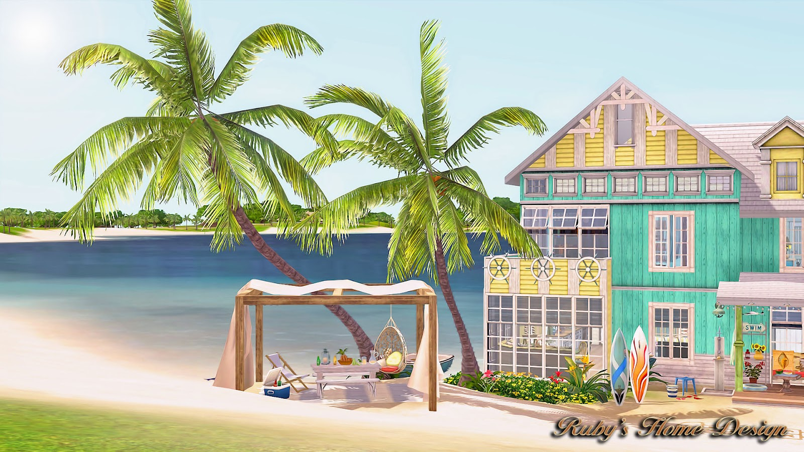 Sims3 sea retreat ruby 39 s home design for Beach house 3 free download
