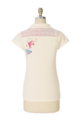 Anthropologie Cross Stitched Polo