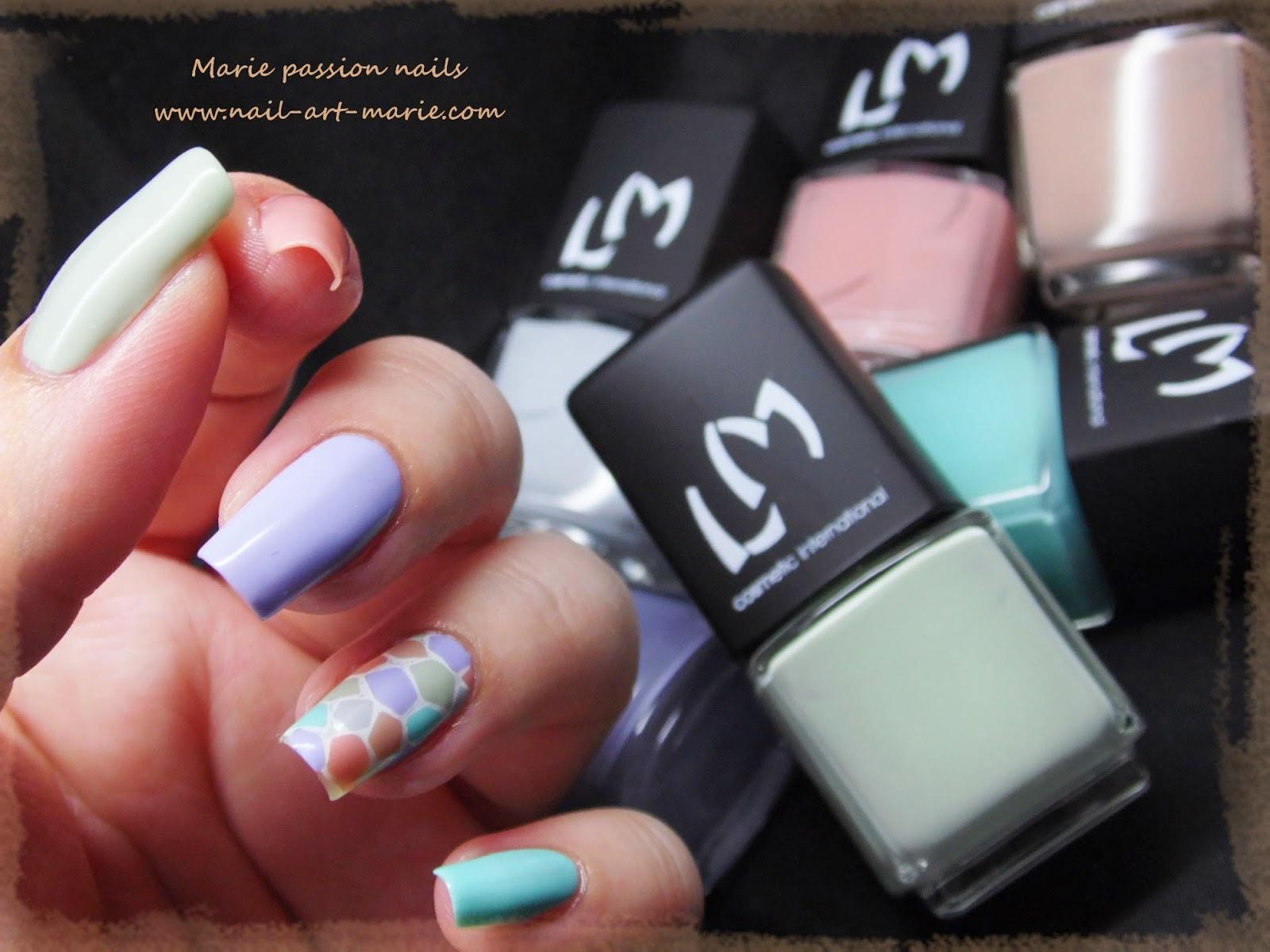 nail art mosaïque pastel4