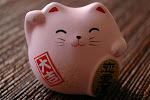 Love & Peace Maneki Neko Cat