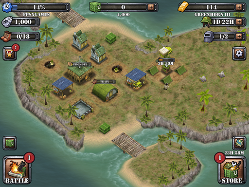 Battle Island is a games just like Boom Beach