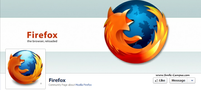 Facebook Fan Page of Firefox Browser
