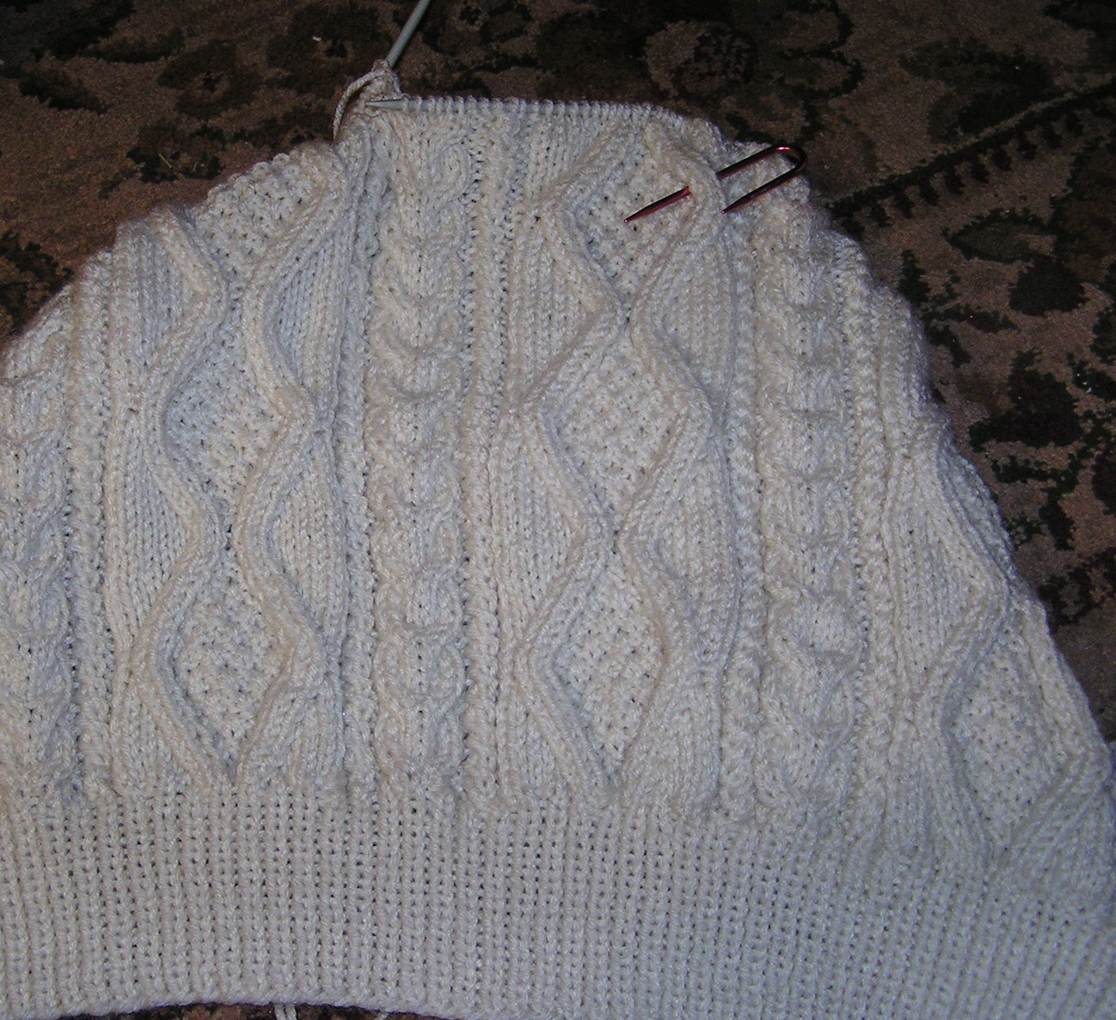 The Cabin Countess : Making an Irish Cable Knit Sweater