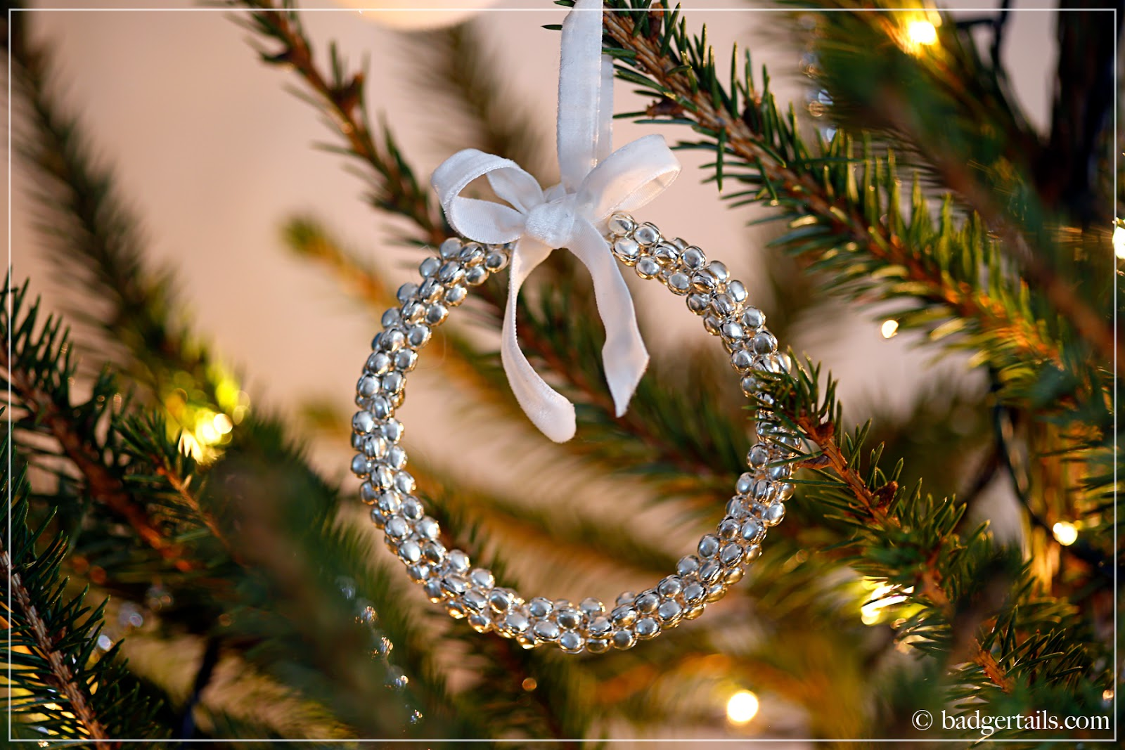 Silver Bell Wreath Christmas Tree Decoration