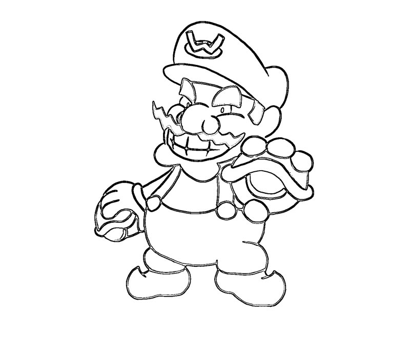 wario coloring pages - photo#14