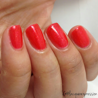 nail polish swatch of horizon shine by Sinfulcolors