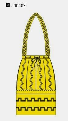 Дорожная сумка с вышивкой в этническом стиле