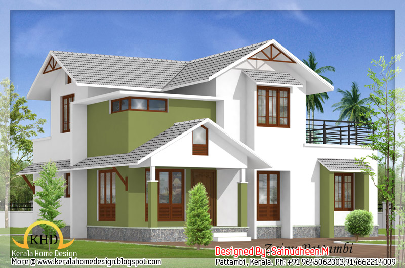 Kerala home design and floor plans 8 beautiful house for Attractive home designs