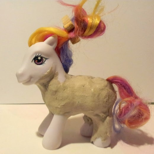 Carmen Wing: Altered My Little Pony - Adding clay