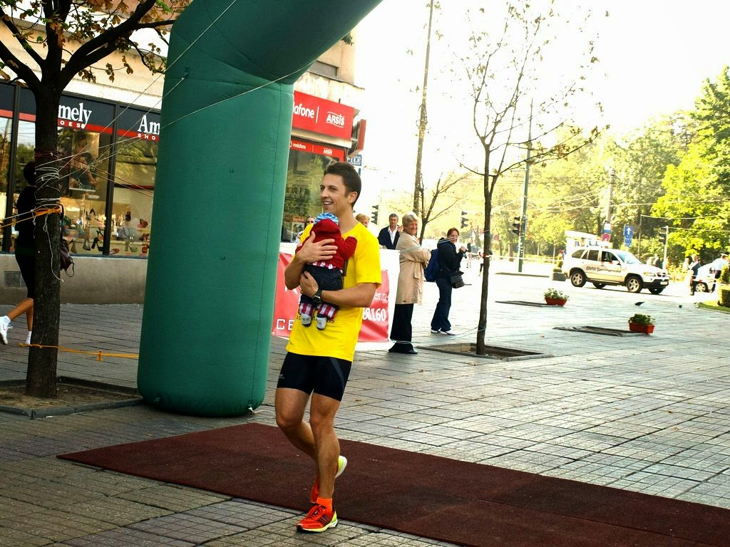 Arnold Dekani, după alergarea celor 100 km pe traseul Reşiţa - Timişoara. Finish