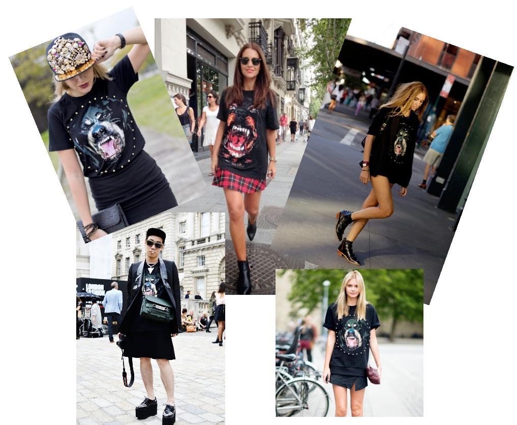 Camiseta Givenchy perro , SS 2012