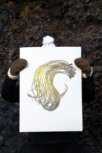 Superfolk 'Sea Spaghetti' print, exhibited at Iceland's DesignMarch