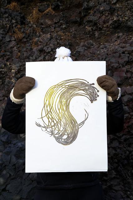 Superfolk 'Sea Spaghetti' print, exhibited at Iceland's DesignMarch