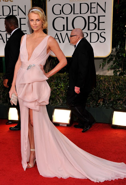 Charlize Theron – in Christian Dior – at the 69th Golden Globe Awards in Beverly Hills
