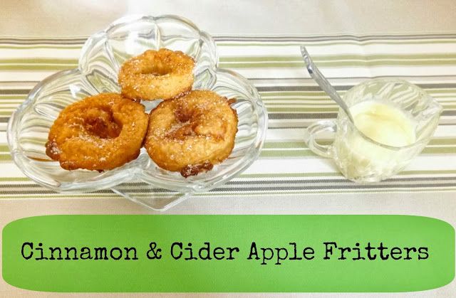 How to make cinnamon cider apple fritters